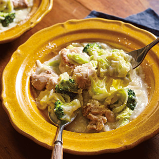 白菜と鶏のチーズクリーム煮