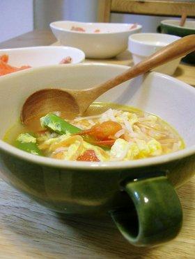 かにかまとたまごのふんわりスープ