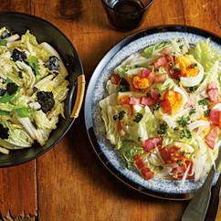 卵とベーコンの白菜サラダ