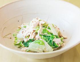 シントリ菜と蒸し鶏のサラダ