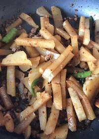 ハヤトウリのピリ辛肉味噌炒め