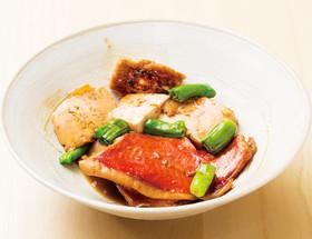 キンメダイと豆腐の煮付け
