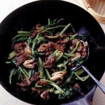 牛肉と小松菜のオイスターソース炒め