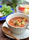 食べるスープ☆水煮大豆入りミネストローネ