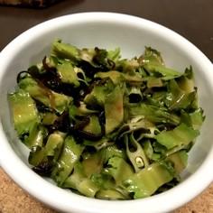 簡単☆四角豆の塩昆布炒め