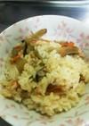 鶏ごぼう炊き込みご飯