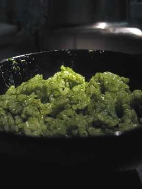 ほうれん草と香菜のグリーンライス