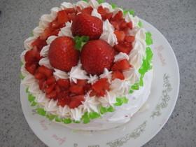 ふわっふわスポンジのショートケーキ♪