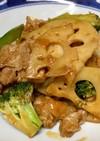 豚肉と蓮根のピリ辛炒め♫