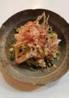 小松菜とかまぼこの煮浸し