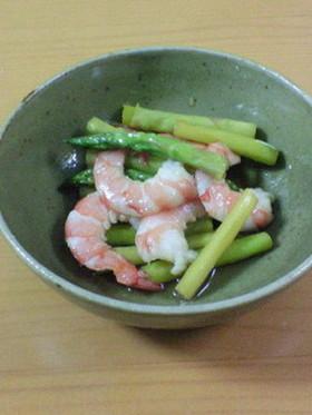 海老とアスパラの中華風酢の物