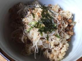 納豆と刺身のツマのご飯(リメイクレシピ)
