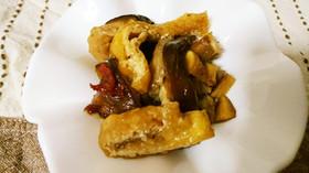 常備菜に♪しいたけと油揚げのピリ辛甘酢煮
