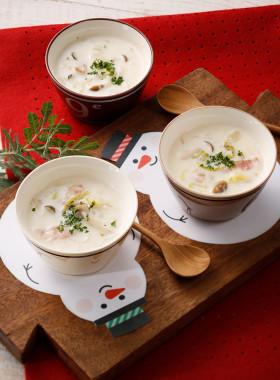 白菜ときのこのXmasクリームスープ