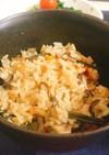 山菜の炊き込みご飯:-)