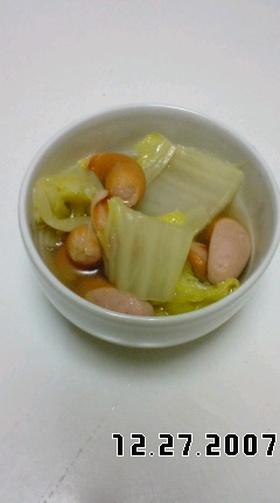 ウインナーと白菜のスープ