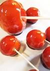 リンゴ飴ならぬ紅茶のトマト飴