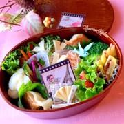 サバ南蛮漬け 餃子 ブーケサラダ秋弁当の写真