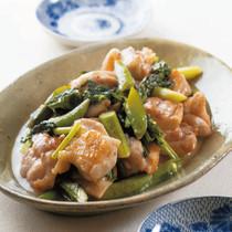 鶏肉と春野菜のはちみつ炒め