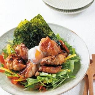 チキン温玉サラダ