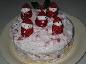 イチゴのクリスマスケーキ