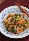 豚こま豆腐とニラのキムチ炒め【作り置き】