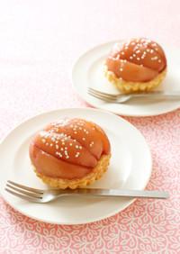 桃のコンポートタルト