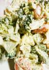 ブロッコリーと小エビとゆで卵の贅沢サラダ