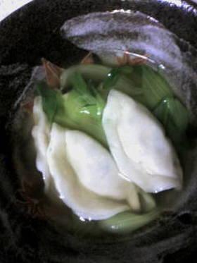 簡単☆冬のあったかうまうまスープ水餃子☆