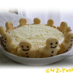 ☆レアチーズケーキで☆バースデーケーキ