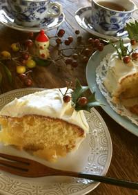 クリームチーズフロスティングりんごケーキ