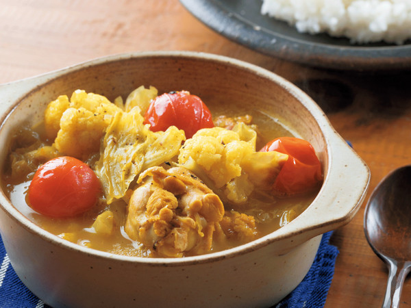 手羽元と野菜のスープカレー