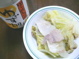 白菜一個完食~白菜と豚バラのなべ~