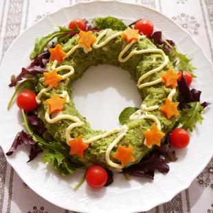 クリスマスのリースポテトサラダ