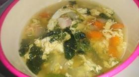 簡単!エビとほうれん草の具沢山スープ
