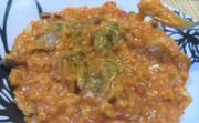 生米からの鶏肉トマトリゾットの写真