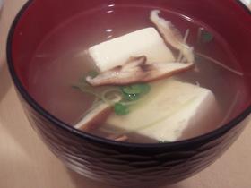 豆腐と蟹の中華スープ