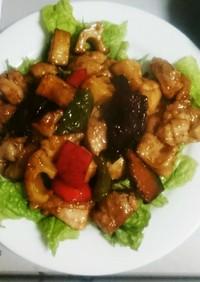 *鶏と野菜の黒酢あん炒め*