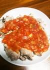 トマトソース紅茶豚