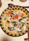 簡単なご馳走  白菜と肉団子のクリーム煮