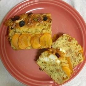 グラノラ入り柿とクリチのパウンドケーキ