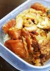 唐揚げの卵とじ丼