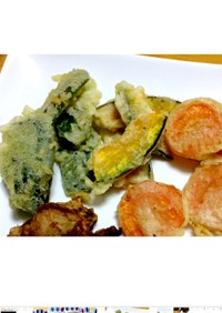 βカロテン豊富な野菜の天ぷら☆
