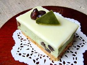 ★抹茶のレアチーズケーキ★