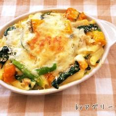 小松菜とカボチャのグラタン♪
