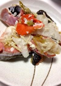 オホーツク産 鮭の飯寿司  (いずし)