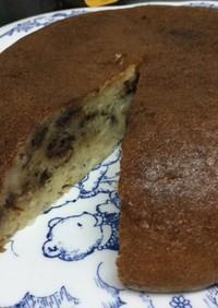 炊飯器で!しっとりチョコバナナケーキ