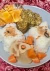 トロロ昆布卵焼きと煮物のワンプレート