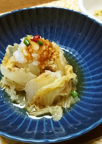 白菜と豚肉のミルフィールおろしポン酢鍋