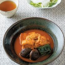 ゆで豚のトマト煮